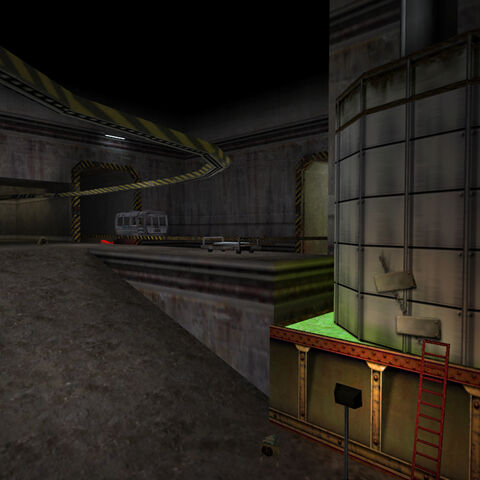 The same spot where the Loader is seen in <i>Half-Life</i>, now with the leak vaguely repaired.