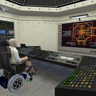 Richard Keller in the Control Room under Test Lab C-33/a.