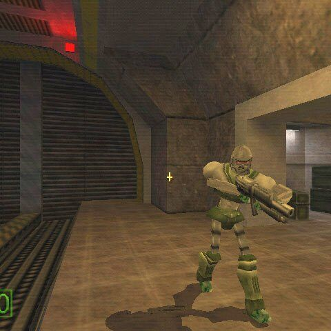 Possible early Robot Grunt using an MP5 in an early screenshot of the <a href=