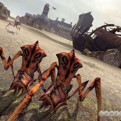 Early official screenshot of Antlions near the Depot.
