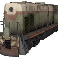 A TEM2 diesel-electric freight locomotive.