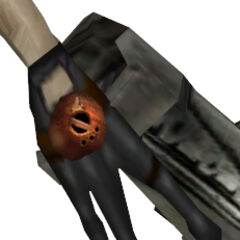 The Cremator's right hand, with the orange sphere.
