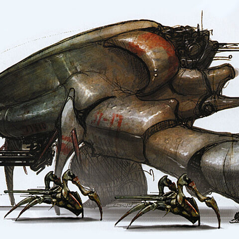 Concept art with the Crab Synth.