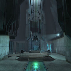 The Combine teleport in the lower levels of the Depot.