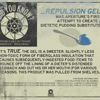 Repulsion Gel fact placard.
