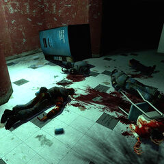 A scene of carnage.