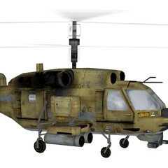 Right side of the Ka-27.