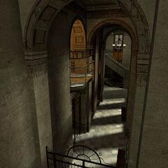 Archway corridor.