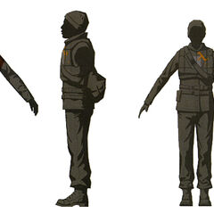 Male and female Rebel outfits.