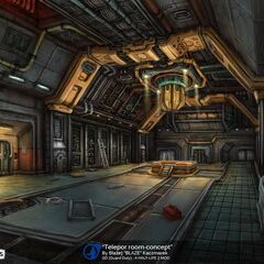 The Concept Art of the Old Abandoned Teleportation facility.