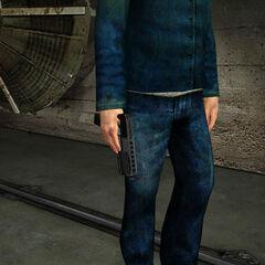 Rebel holding Alyx's Gun in Black Mesa East.