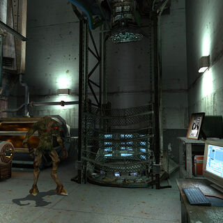 The teleport in Black Mesa East.