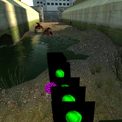 Red Bullsquids attacking the player in the map