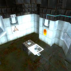 The orange portal ASHPD in Test Chamber 11.
