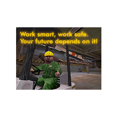 Safety advertisement. It reverts the sentences said by the Black Mesa Announcement System.