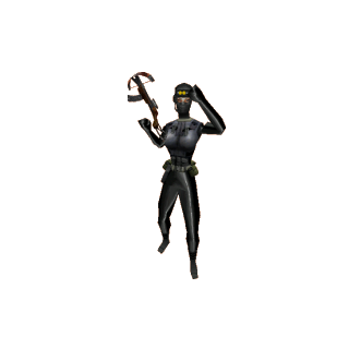 Female Black Ops model using the crossbow.