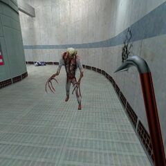 Ditto; first Zombie ever encountered at Black Mesa.
