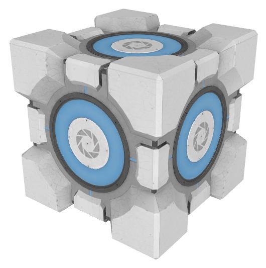 Aperture Science Weighted Storage Cube | Half-Life Wiki | FANDOM