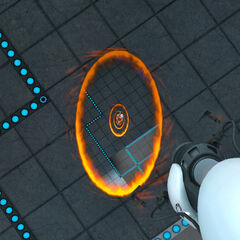 Chell going through her own Portals.