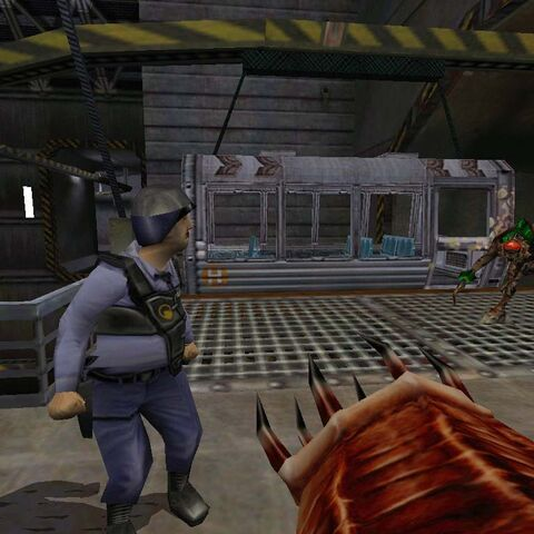 Early <i>Opposing Force</i> screenshot, including an