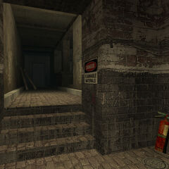 The entrance to the basement.