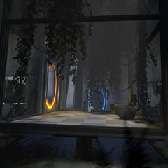 The radio still present in Relaxation Vault in <i>Portal 2</i>.