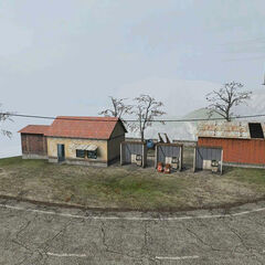 An old petrol station being used by the <a href=