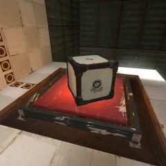 Early Cube on early Supper Button in Test Chamber 01.