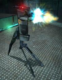 Depot Sentry firing