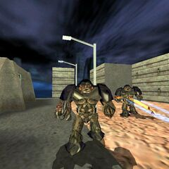 Early Alien Grunts firing Hornets from the Hivehand. Note the blue tracer used instead of red.