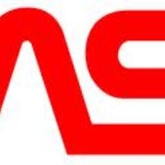 NASA logo as seen on the rocket.