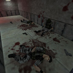 Soldiers killed by Pitdrones in Black Mesa's Waste Processing Area 3.