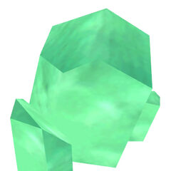 One of the several green Xen crystal brushes featured in the game.
