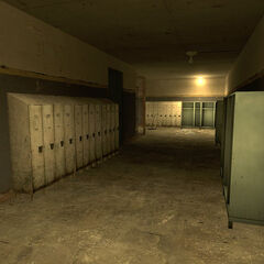 Lockers in the trainstation.