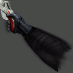 Unidentified texture file for a female right arm holding a red flare gun found in the playable <i>Half-Life 2</i> Beta texture files for the flare gun.