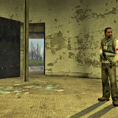 Rebel with an MP7 near the lighthouse's secret door at <a href=