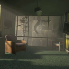 An early version of Chell's Relaxation Chamber, as seen in the Portal 2 Teaser Trailer.