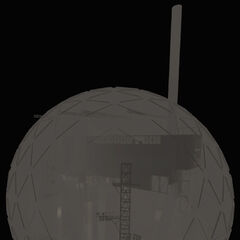 Noclip view of Enrichment Sphere 02, showing the map is the sphere itself.