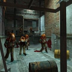 Early Zombies in early Ravenholm.