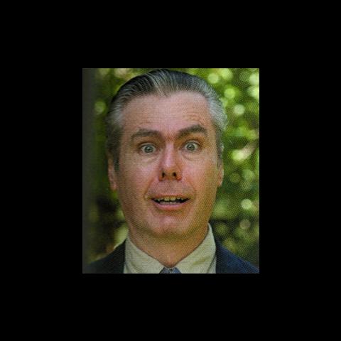 Frank Sheldon performing facial expressions.