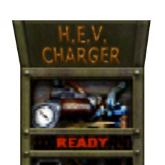 An old and unusable HEV Charger seen in the deathmatch map Stalkyard.