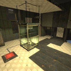 Before freeing the Cube in Test Chamber 28.