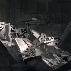 A ruined Test Chamber.