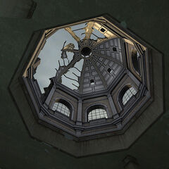 The destroyed dome.