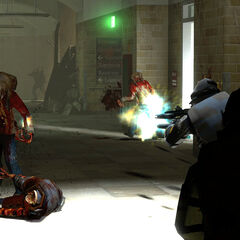 Overwatch Soldiers fighting Zombies.