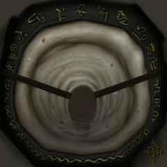 <i>Half-Life 2</i> face texture, signed by Ted Backman.