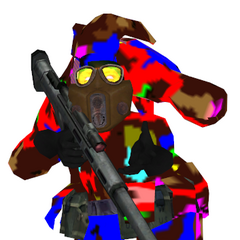 Front of the broken sniper elite model. As he is seen in his hunched model.