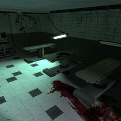 A bloody operating room.