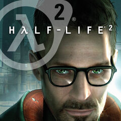 Freeman on the cover of <i>Half-Life 2</i>.