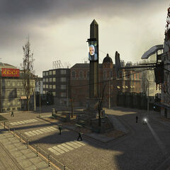 The Trainstation Plaza before the uprising.